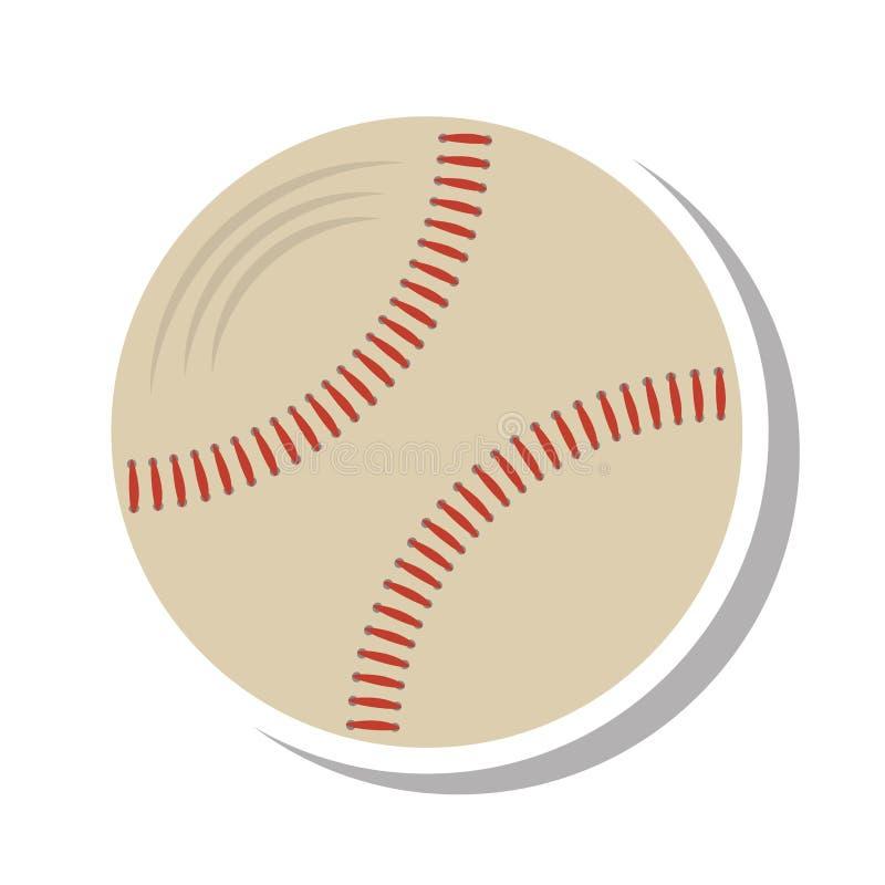 Ícone isolado equipamento da bola do basebol ilustração stock