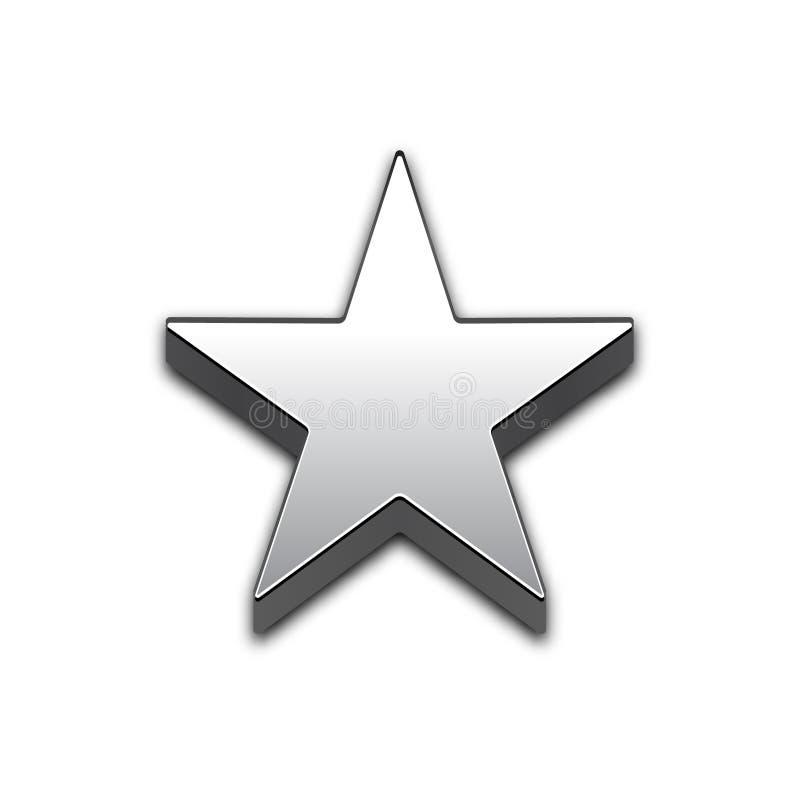 Ícone isolado estrela do vetor da Web 3d ilustração stock