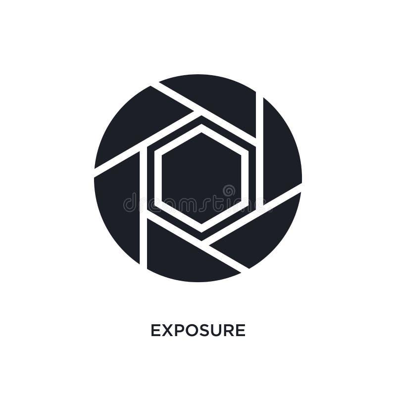 ícone isolado exposição ilustração simples do elemento dos ícones do conceito da fotografia projeto editável do símbolo do sinal  ilustração stock