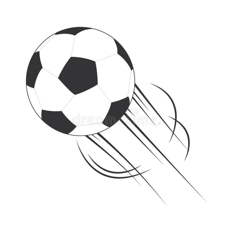 Ícone isolado futebol da bola ilustração stock