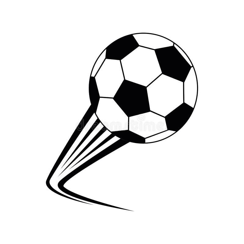 Ícone isolado futebol da bola ilustração do vetor