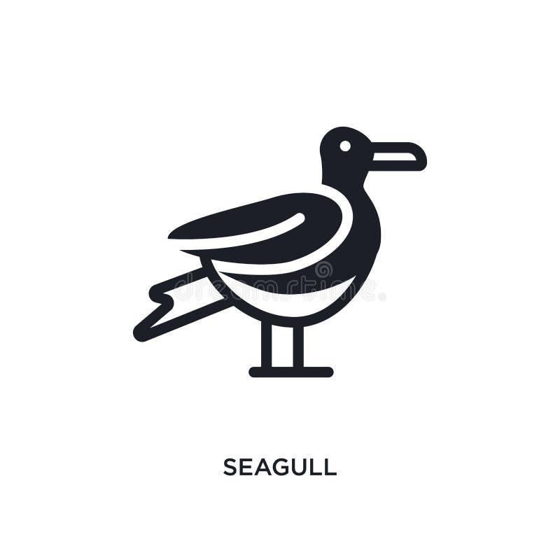 Ícone isolado gaivota ilustração simples do elemento dos ícones náuticos do conceito projeto editável do símbolo do sinal do logo ilustração royalty free