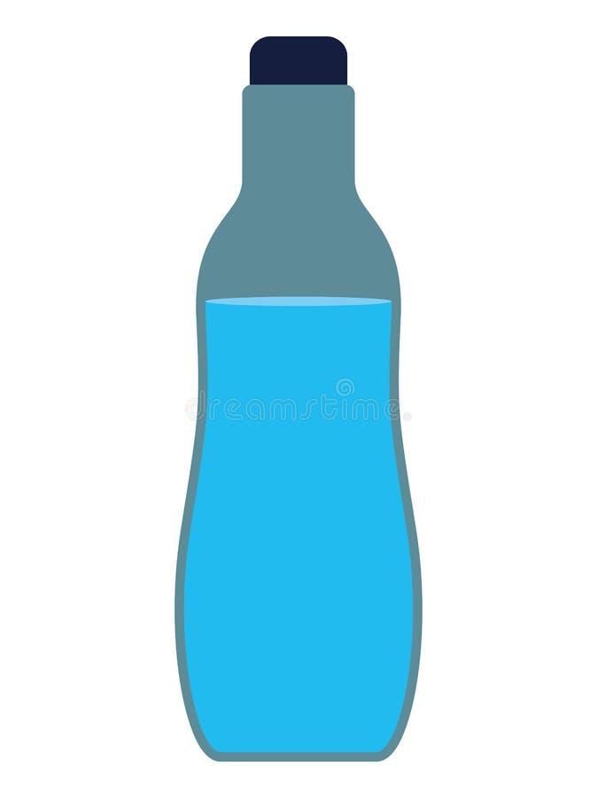 Ícone isolado garrafa de água ilustração do vetor