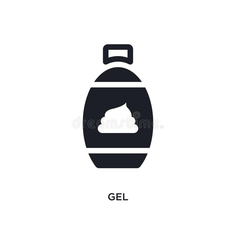 ícone isolado gel ilustração simples do elemento dos ícones do conceito da higiene projeto editável do símbolo do sinal do logoti ilustração do vetor