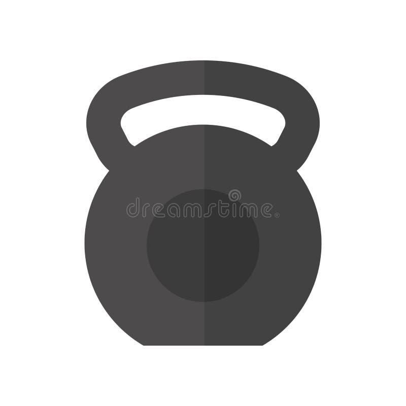 Ícone isolado gym do equipamento do peso ilustração do vetor