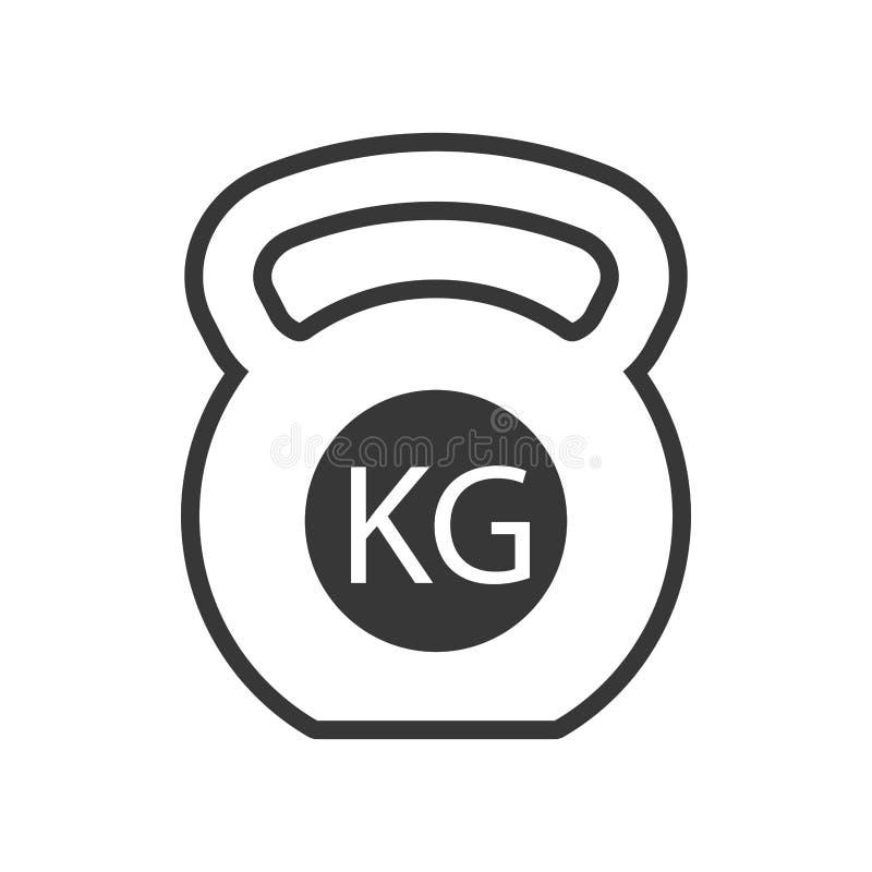 Ícone isolado gym do equipamento do peso ilustração royalty free