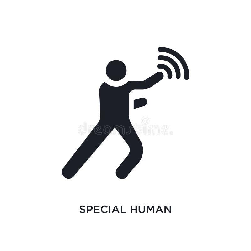 ícone isolado humano especial ilustração simples do elemento dos ícones do conceito dos sentimentos símbolo editável humano espec ilustração stock