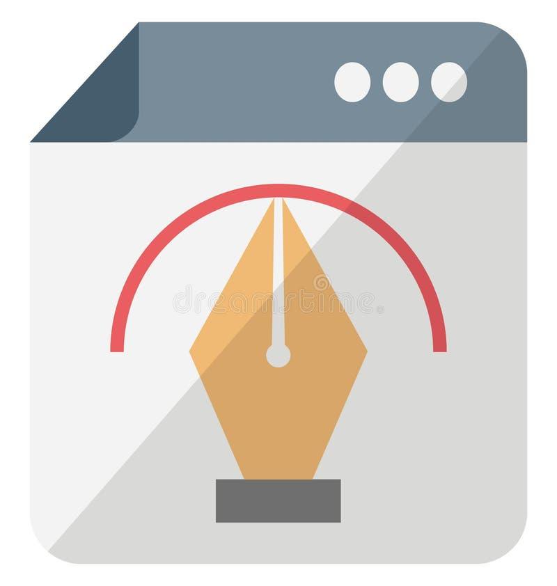 Ícone isolado isométrico do vetor do photoshop de Adobe que pode facilmente ser alterado ou editado ilustração do vetor