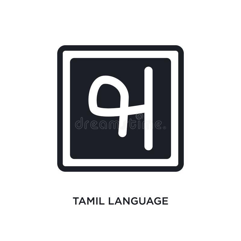 ícone isolado língua do tamil ilustração simples do elemento dos ícones do conceito de india símbolo editável do sinal do logotip ilustração do vetor