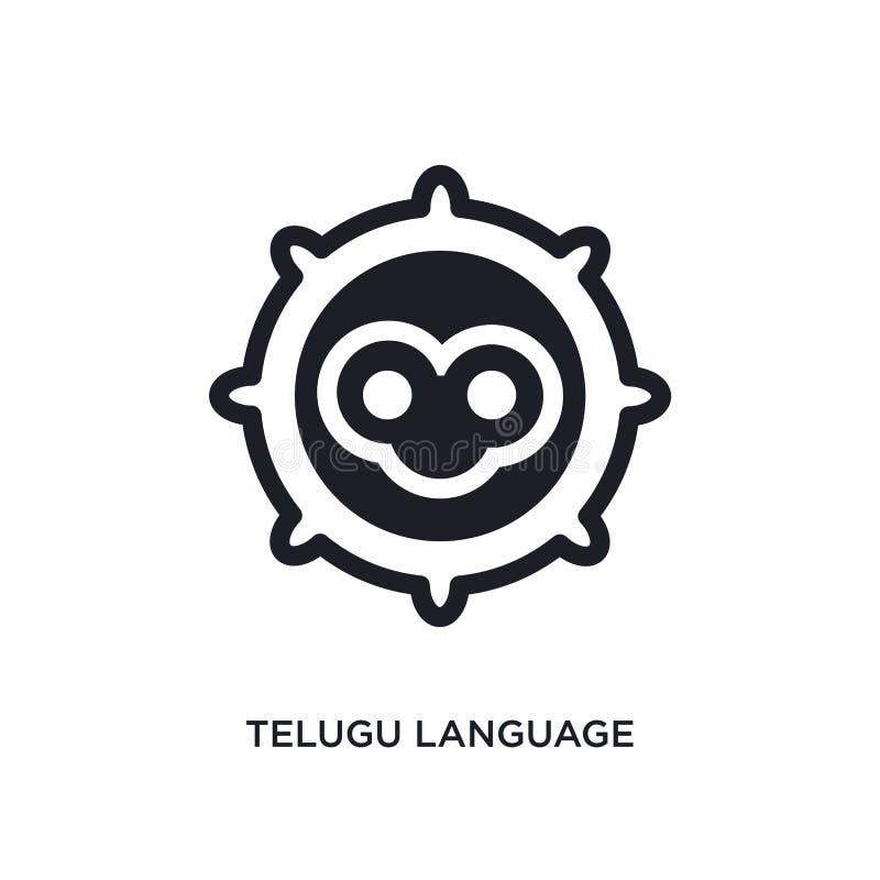 ícone isolado língua do telugu ilustração simples do elemento dos ícones do conceito de india símbolo editável do sinal do logoti ilustração do vetor