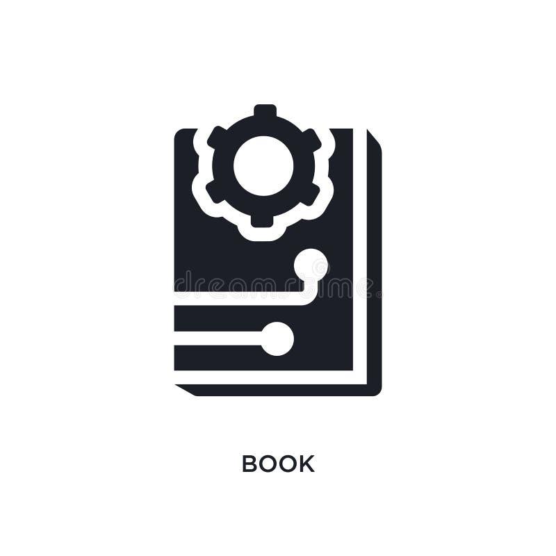 ícone isolado livro negro do vetor ilustração simples do elemento dos ícones do vetor do conceito da inteligência artificial livr ilustração royalty free