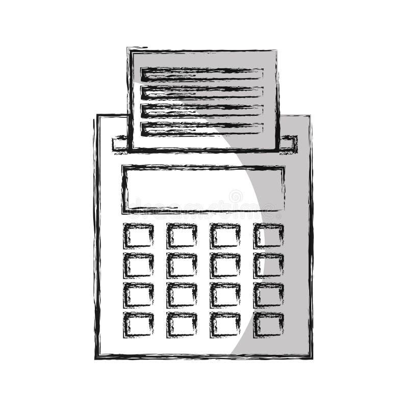 Ícone isolado matemática da calculadora ilustração royalty free