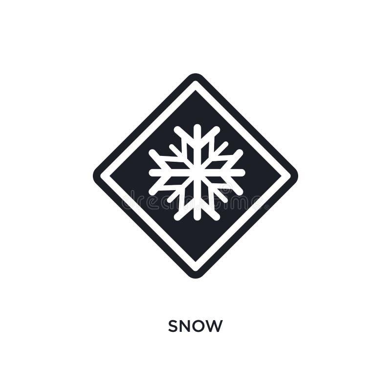ícone isolado neve ilustração simples do elemento dos ícones do conceito dos sinais de tráfego projeto editável do símbolo do sin ilustração do vetor