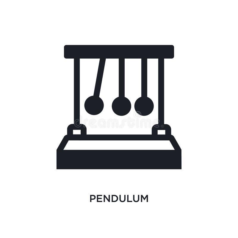 ícone isolado pêndulo ilustração simples do elemento dos ícones do conceito da ciência projeto editável do símbolo do sinal do lo ilustração royalty free