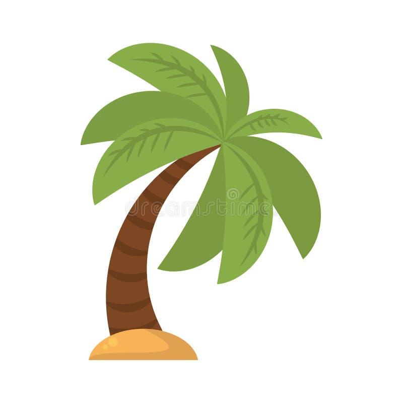 Ícone isolado Palm Beach da árvore ilustração stock