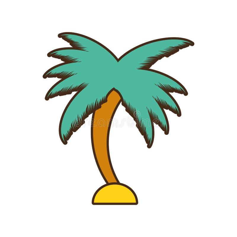 Ícone isolado palma da árvore ilustração do vetor