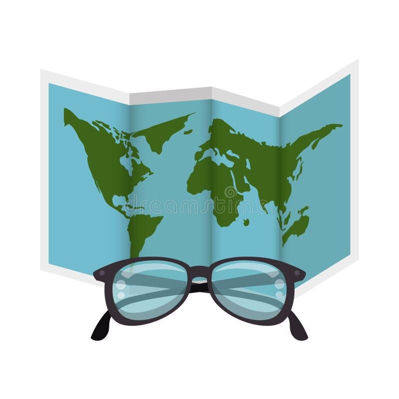 ícone isolado papel do guia do mapa ilustração royalty free
