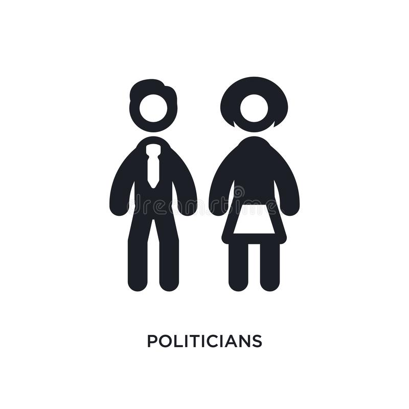 ícone isolado políticos ilustração simples do elemento dos ícones políticos do conceito projeto editável do símbolo do sinal do l ilustração do vetor