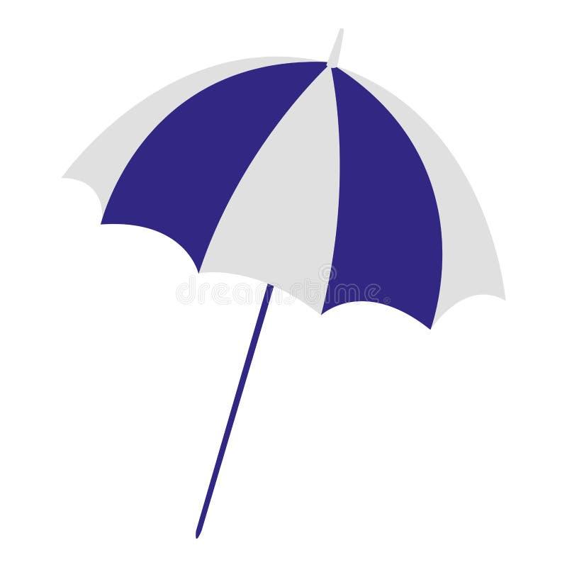 Ícone isolado praia do guarda-chuva ilustração do vetor