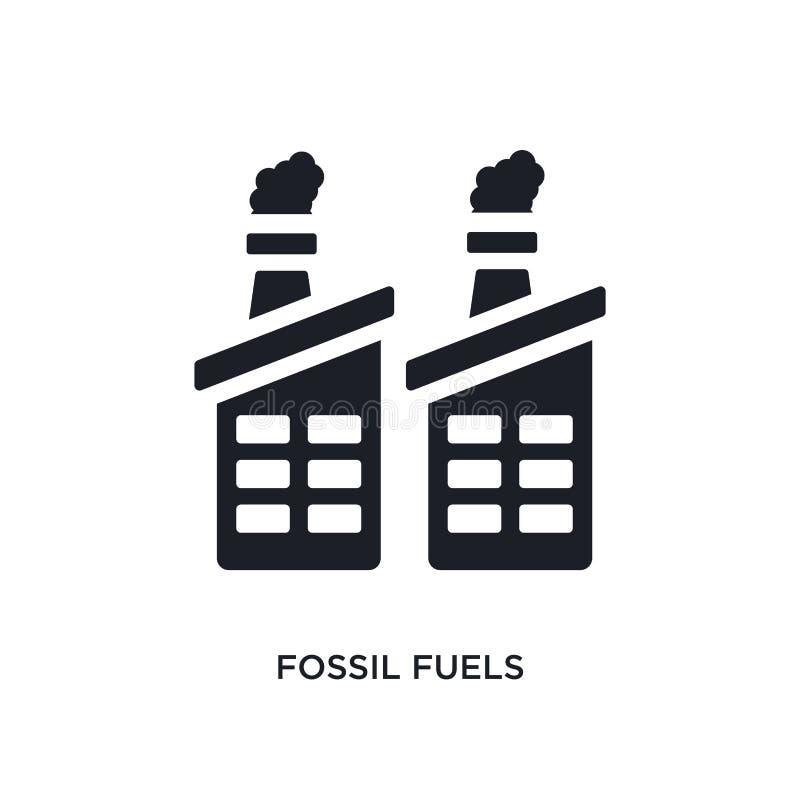 ícone isolado preto do vetor dos combustíveis de fóssil ilustração simples do elemento dos ícones do vetor do conceito da indústr ilustração do vetor