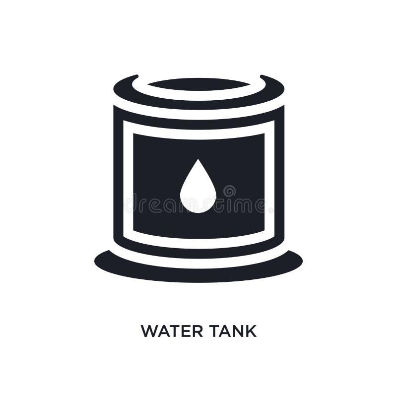 ícone isolado preto do vetor do tanque de água ilustração simples do elemento dos ícones do vetor do conceito da indústria logoti ilustração royalty free