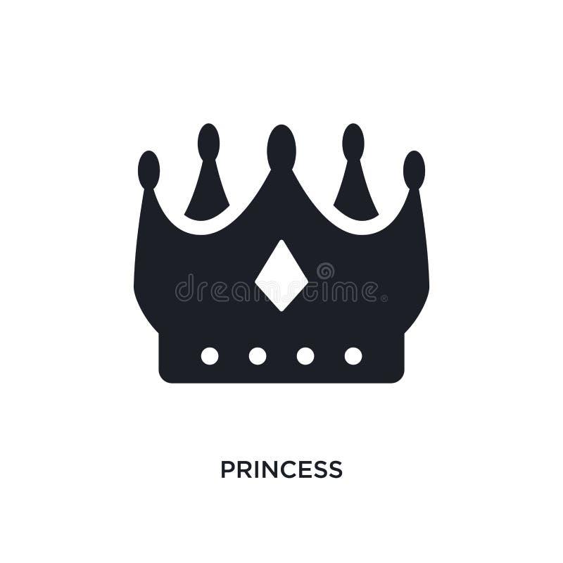 ícone isolado princesa ilustração simples do elemento dos ícones luxuosos do conceito projeto editável do símbolo do sinal do log ilustração do vetor