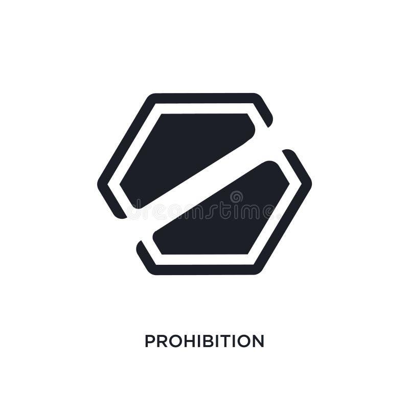 ícone isolado proibição ilustração simples do elemento dos ícones do conceito dos sinais projeto editável do símbolo do sinal do  ilustração do vetor