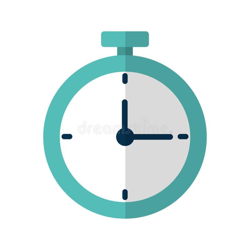 Ícone isolado relógio do cronômetro ilustração do vetor
