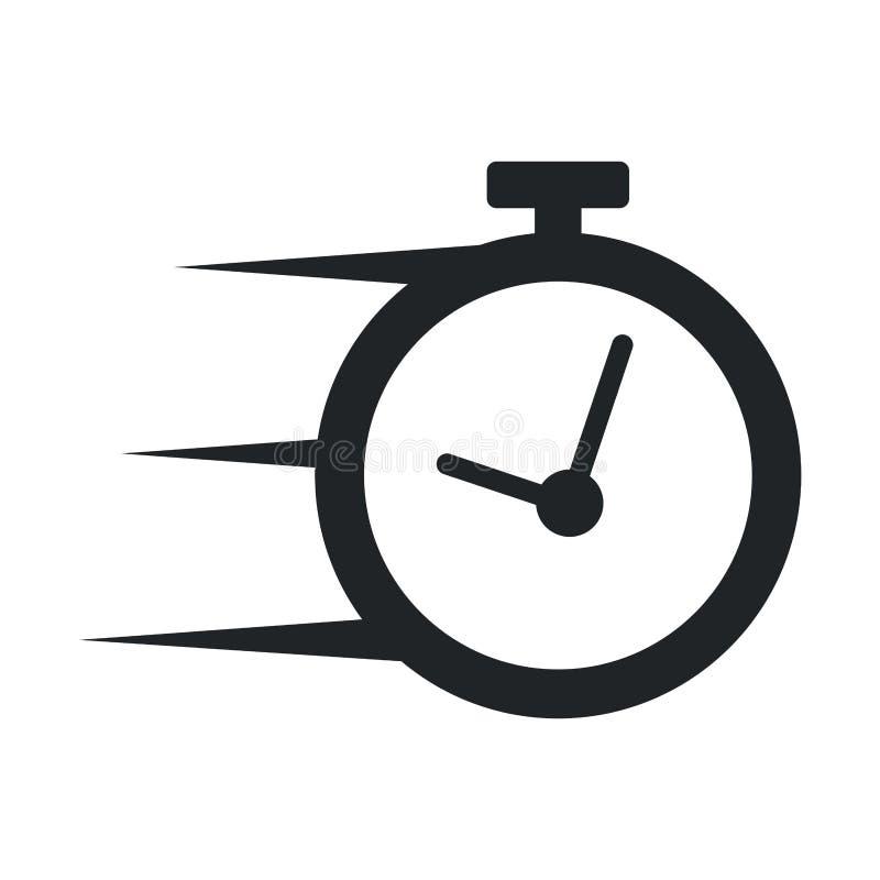 Ícone isolado relógio do cronômetro ilustração stock