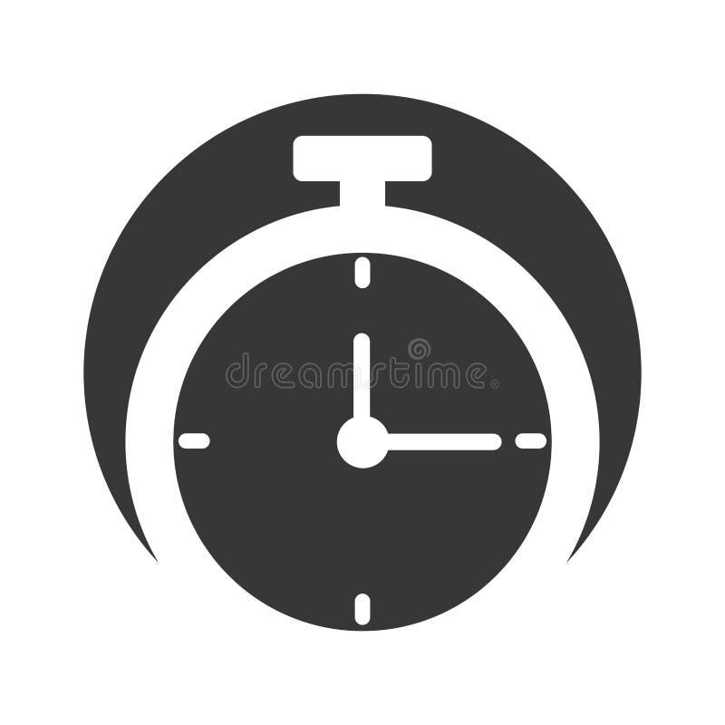 Ícone isolado relógio do cronômetro ilustração royalty free