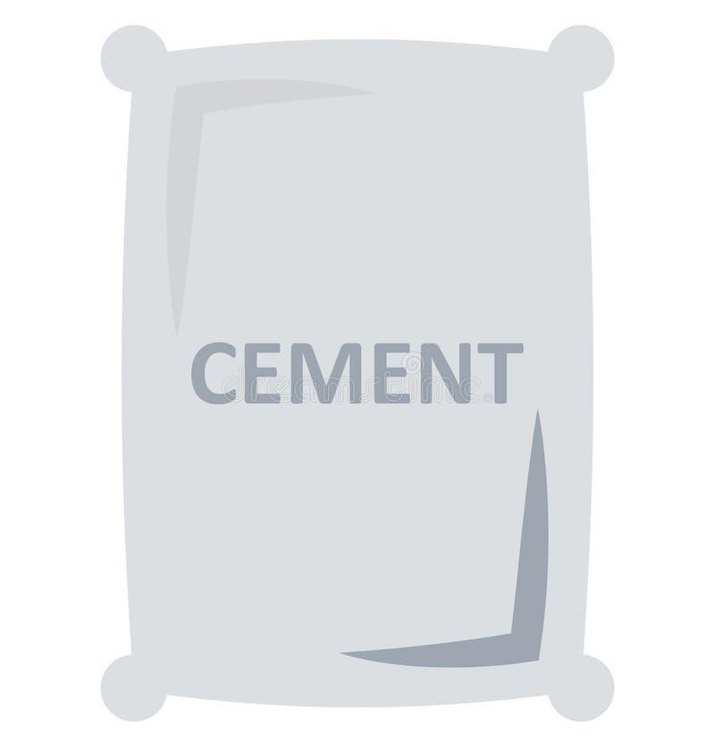 Ícone isolado saco do vetor do cimento para a construção ilustração royalty free