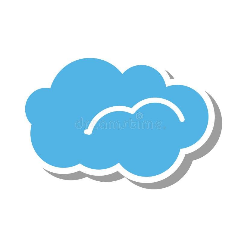 Ícone isolado silhueta da nuvem ilustração royalty free