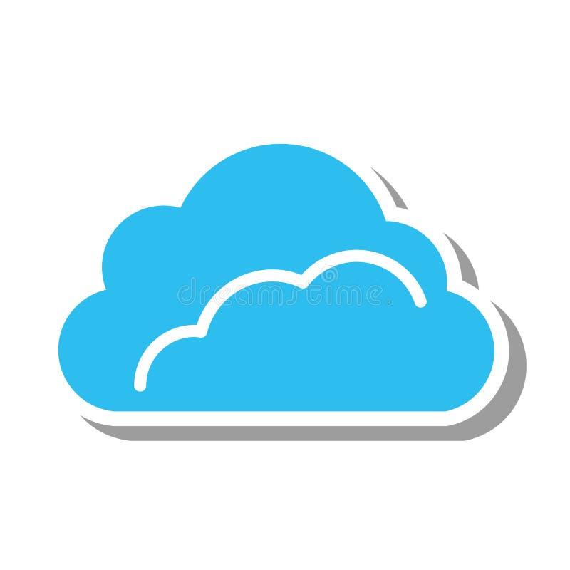 Ícone isolado silhueta da nuvem ilustração do vetor