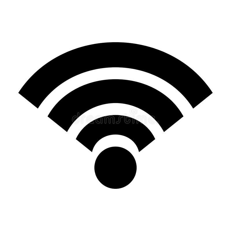 ícone isolado sinal do wifi ilustração stock