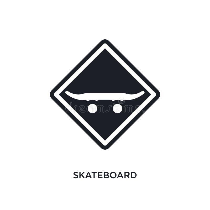 ícone isolado skate ilustração simples do elemento dos ícones do conceito dos sinais de tráfego símbolo editável do sinal do logo ilustração stock