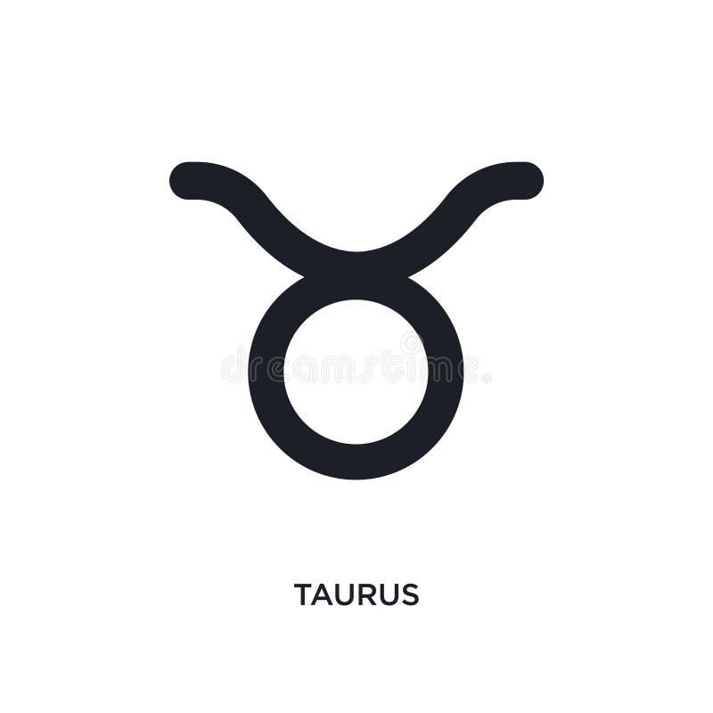 ícone isolado taurus ilustração simples do elemento dos ícones do conceito do zodíaco projeto editável do símbolo do sinal do log ilustração do vetor