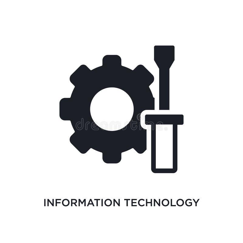 ícone isolado tecnologia da informação ilustração simples do elemento dos ícones do conceito general-1 tecnologia da informação e ilustração do vetor