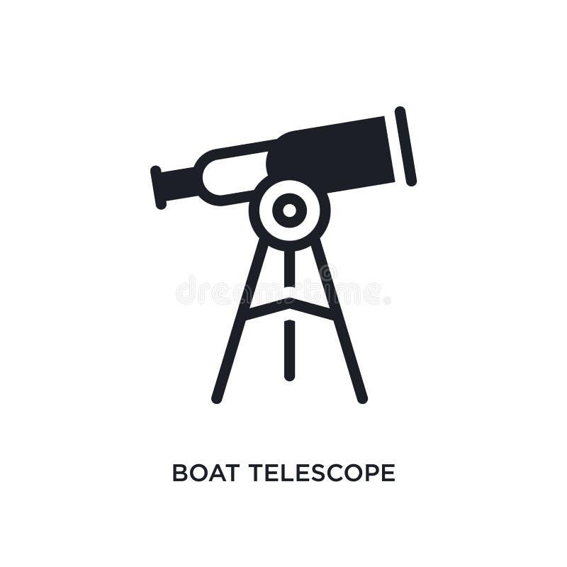 ícone isolado telescópio do barco ilustração simples do elemento dos ícones náuticos do conceito símbolo editável do sinal do log ilustração stock