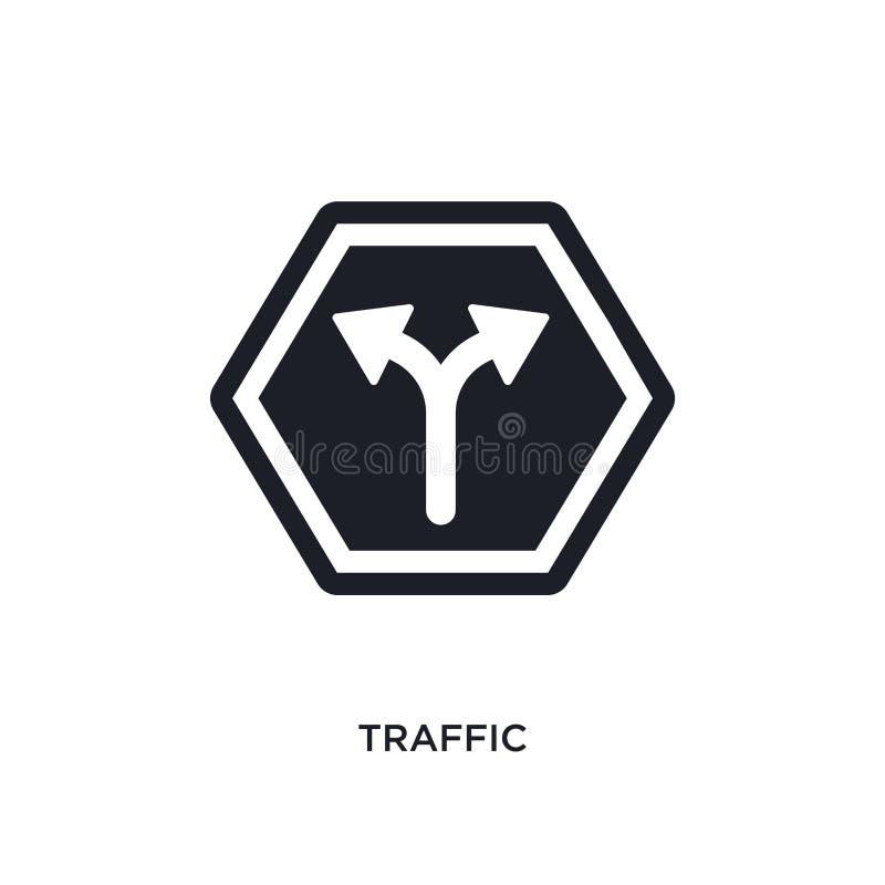 ícone isolado tráfego ilustração simples do elemento dos ícones do conceito dos sinais projeto editável do símbolo do sinal do lo ilustração do vetor
