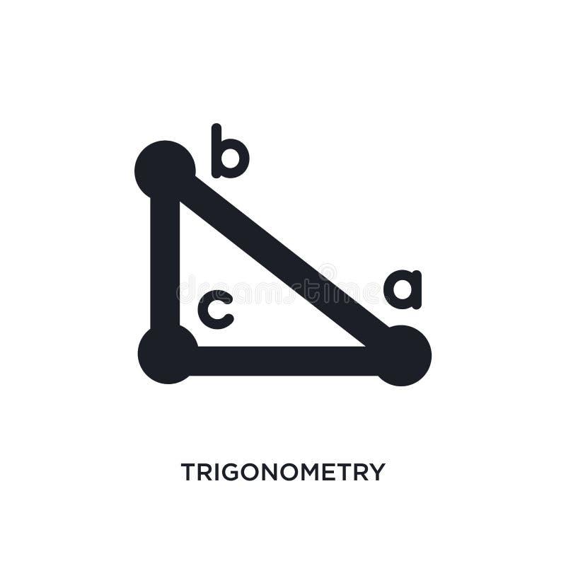 ícone isolado trigonometria ilustração simples do elemento dos ícones do conceito do ensino eletrónico e da educação logotipo edi ilustração do vetor
