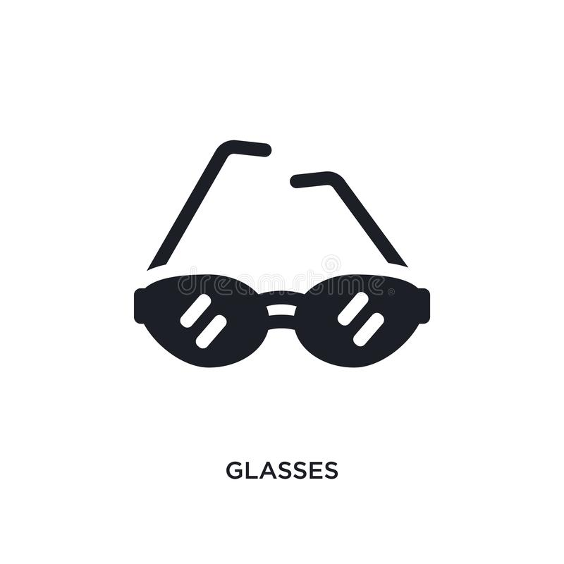 ícone isolado vidros ilustração simples do elemento dos ícones do conceito da roupa da mulher projeto editável do símbolo do sina ilustração stock