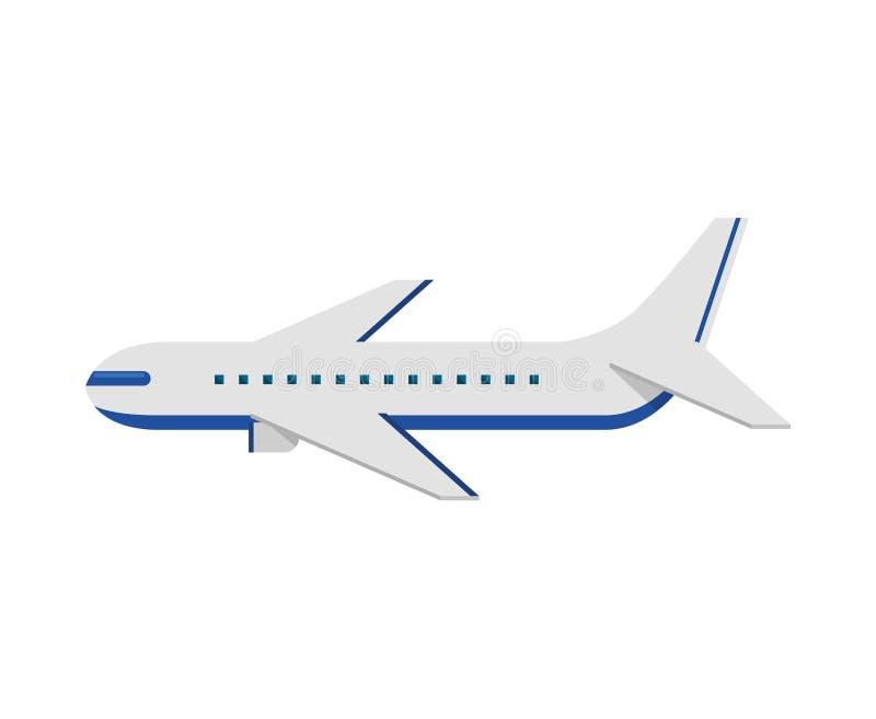 Ícone isolado voo do avião ilustração stock
