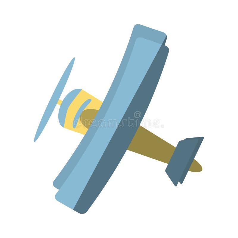 Ícone isolado voo do veículo do avião ilustração do vetor