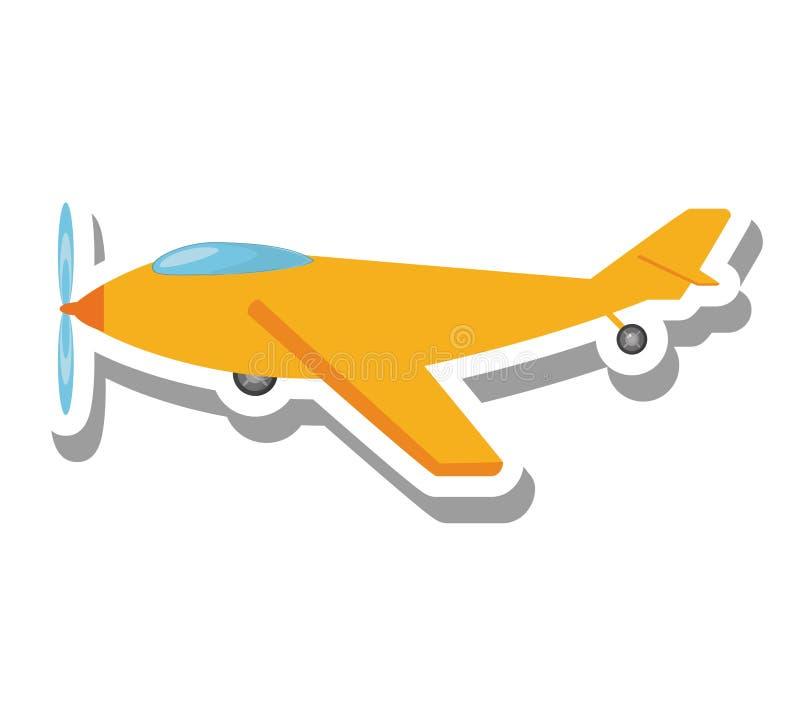 Ícone isolado voo do veículo do avião ilustração stock