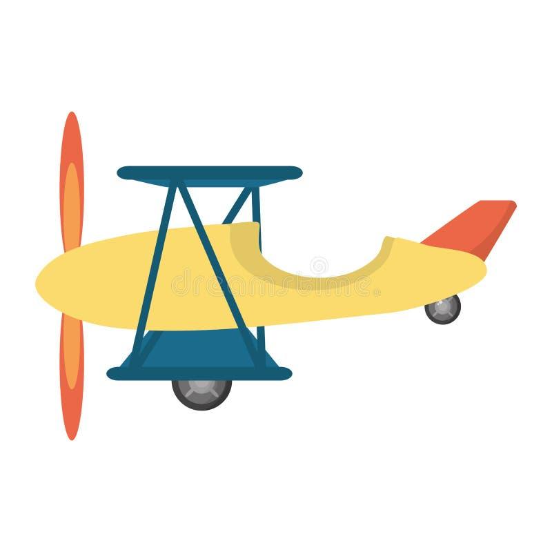 Ícone isolado voo do veículo do avião ilustração royalty free