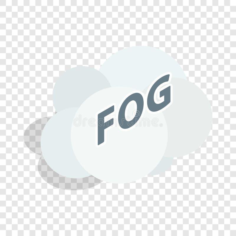 Ícone isométrico da nuvem da névoa ilustração royalty free