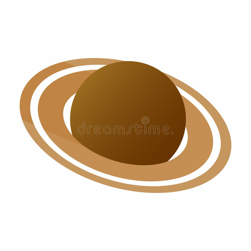 Ícone isométrico de Saturn 3d ilustração royalty free