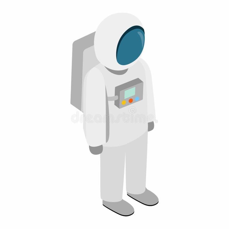 Ícone isométrico do astronauta 3d ilustração do vetor