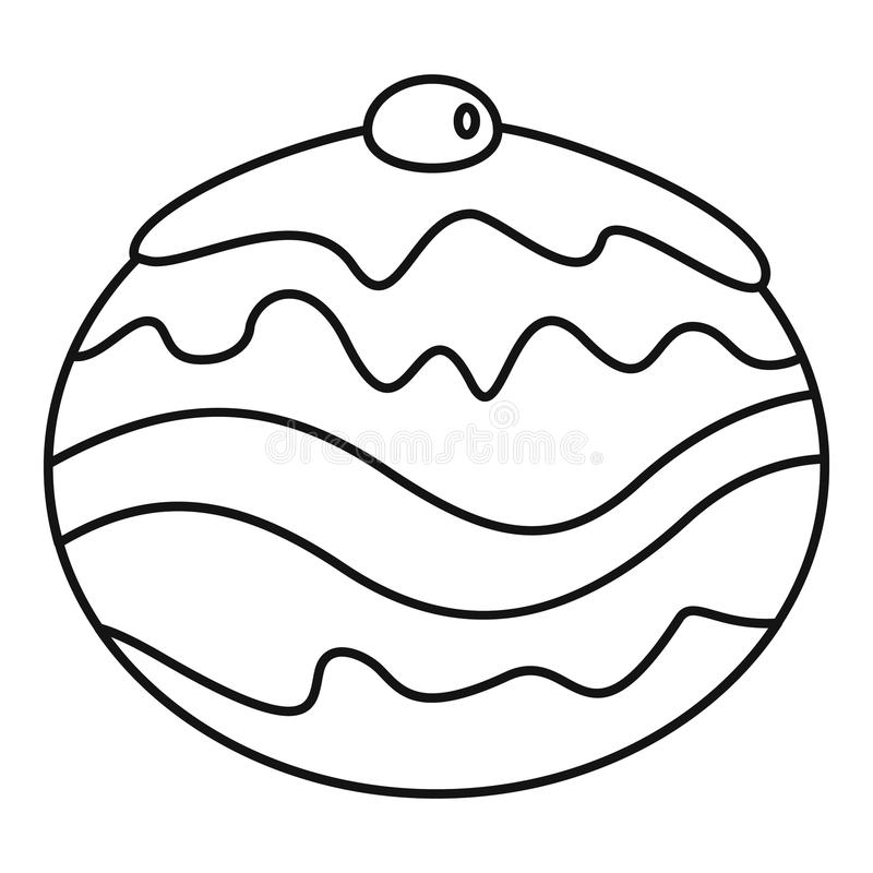 Ícone judaico da padaria, estilo do esboço ilustração stock