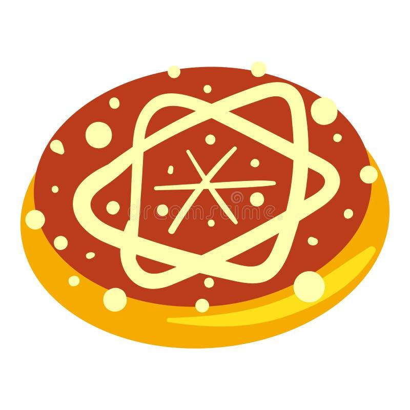 Ícone judaico da padaria, estilo dos desenhos animados ilustração do vetor